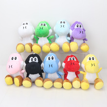 Super Mario 10pcs/lot 7inch/18cm 9 colors Super Mario yoshi Plush Doll Toys With Sucker(China)