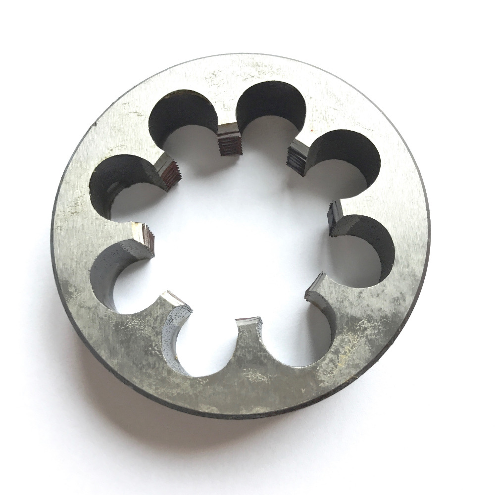 Free shipping of 1PC alloy steel made manual threading Die M48*5.0 9SiCr Dies Threading Tools Lathe Model Engineer Thread Maker<br>