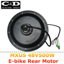 48V 500W High Speed Brushless Hub Motor E-bike Motor Rear Wheel Drive MXUS Brand