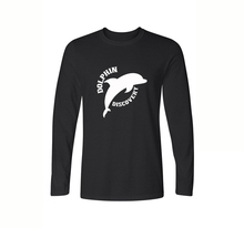 Carton Dolphin Print Men's T-shirt Casual Long Sleeve Cotton T Shirt Spring Autumn Fashion Tops Tees Crew Neck T-Shirt