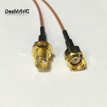 WIFI antenna extension cable Reverse RP SMA male to RP SMA female pigtail adapter RG178 15cm wholesale price(China)