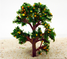 1Pcs/ artificial model fruit tree /miniatures/cute plants/fairy garden gnome/moss terrarium decor/crafts/bonsai/bottle garden(China)