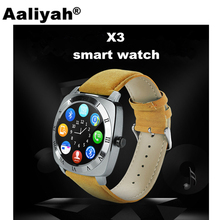 Aaliyah X3 Smart Watches With Camera Reloj Intelligente Support SIM TF Card Sync SMS Call Smartwatch For Android Phone VS DZ09(China)