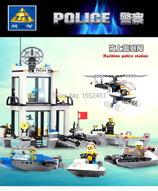 Hot Sale Toys Kazi Maritime police station Model Educational DIY Bricks Classic Toys Building Blocks set compatible with Lego<br><br>Aliexpress