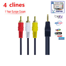 Av-cabel 1 Year CCcams CLINES for Satellite Receiver BT Sport Mediaset Clines Movistar WIFI FULL HD DVB-S2 Support