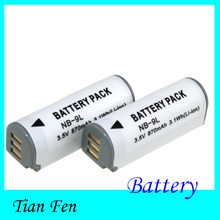 2pcs 3.5V NB-9L NB 9L NB9L Rechargeable Camera Battery For Canon IXUS 1000 1100 500 510 HS(China)