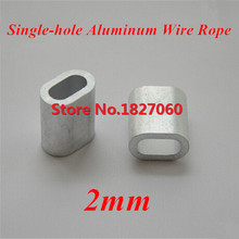 500pcs M2 2mm Aluminum Buckle Furrules Crimping Sleeve Oval Clip Singlle-hole ellipse Wire Rope Clamp Rigging Hardware(China)