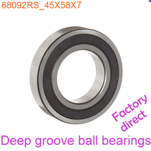 45mm Diameter Deep groove ball bearings 6809 2RS 45mmX58mmX7mm Double rubber sealing cover ABEC-1 CNC,Motors,Machinery,AUTO