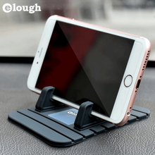Elough Universal Soft Silicone Car Holder Mobile Phone Stand Support GPS For iPhone 7 6 Plus Samsung s6 s7 Edge Car Phone Holder
