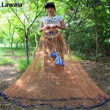 Lawaia Fishing Nets New ECO Pendant Throw The Tire Line Fishing Network With Ring Cast Fishing Tire Cord Mesh Diameter 2.4m-7.2m