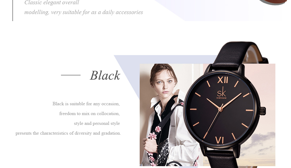 Shengke Top Brand Fashion Ladies Watches Leather Female Quartz Watch Women Thin Casual Strap Watch Reloj Mujer Marble Dial SK 28