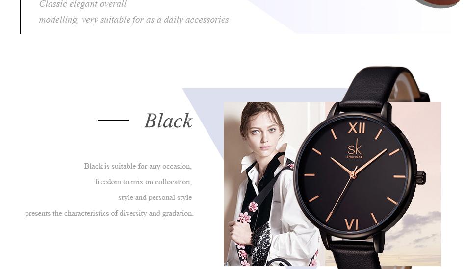 ساعة نسائية حزام جلد أنثى كوارتز الوان جميلة 11