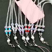 Dower Me Brand DIY Mobile Phone Pendant Tassel Beads Chain Mobile Phone Lanyard Decoration