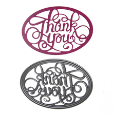 "1pcs Metal Steel "" Thank You "" Letter Cutting Dies Stencil For DIY Scrapbooking Album Paper Card Photo Decorative Craft"