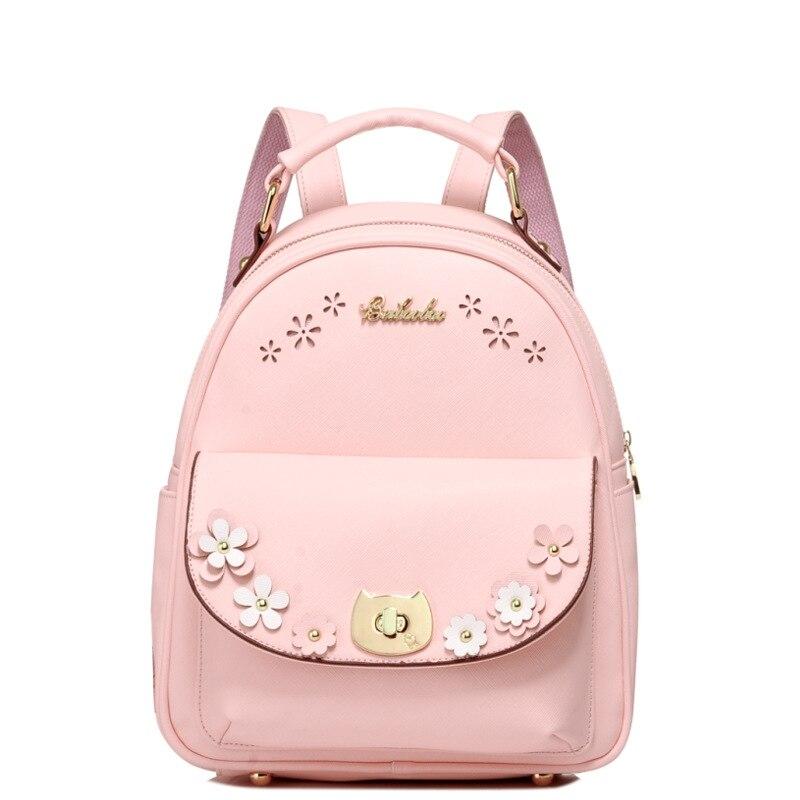 Fashion Women Backpack Leather Shoulder Bag Backpack College Wind School Bag for Teenager Girls Travel Rucksack Mochila Feminina<br>