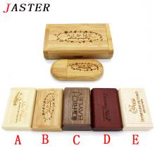 JASTER LOGO customer Creative Original Wooden usb + Box pen drive 8GB 16gb 32gb usb Flash Drive Bulk Memory Stick wedding Gift