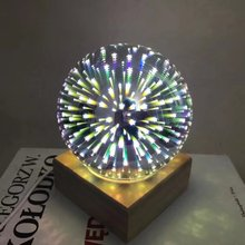 Table Lamps For Living Room Fancy Magic Glass Decorative Lamp 3d Light Usb Colorful Led Desk Lamps Lamparas De Mesa Room Lamp(China)