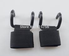 Power Double Hooks Weight Lifting Hook Bodybuilding Wrist Straps Support Chin Up Bar Strength Training HO18988111