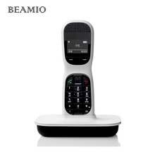 English 2.4Ghz Digital Cordless Phone With Handfree 1.45 Inch Screen Wireless Home Cordless Fixed Telephone For Office White