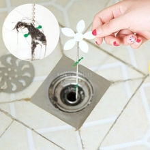 Hair Catcher Shower Drain Stopper Clog Sink Strainer Cleaning Protector Filter Strap Pipe Hook Bathroom Accessories H06