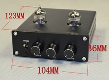 Latest HiFi 6J1 Vacuum Tube Preamplifier Stereo PreAmp Digital Treble Bass Tone Control(China)