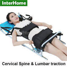 New Patented Efficient Cervical Spine Lumbar Spine Traction Bed Therapy Massage Body Stretching Device for Lumbago Low Back Pain(China)