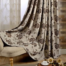 Free shipping jacquard curtains custom made European style blackout curtains fabric for window