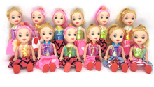 NK One Pcs Randomly  10cm Mini Kelly Doll With Clothes Shoes Girls'  Cute Dolls Fashion Dolls Best Gift For Children Baby Toys