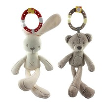 Baby Soft Stuffed Plush mini Toy Rabbit Bear Plush Toys Hanging Doll Plush Bed Toys Comfort Dolls Stroller Accessories ourson(China)