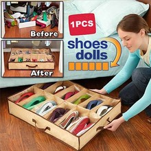 12 Pairs Fabric Storage Organizer Holder Shoes Box BS88