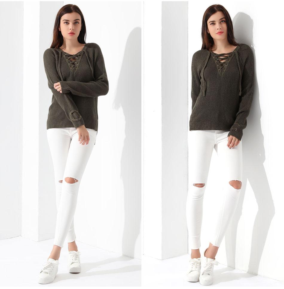 Women's Pullover Long Sleeve KnittedSweater 41
