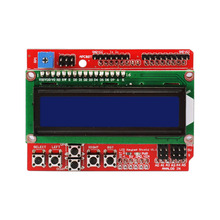 Free shipping!1602 LCD Keypad Shield V2.0 LCD Expansion Board for Arduino