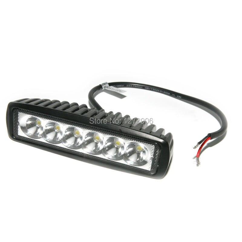 Car Stying DC10-30V 18W 6pcs LED Work Light Bar Lamp For Driving Truck Trailer Motorcycle Car Light <br><br>Aliexpress