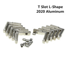20pcs T Slot L-Shape 2020 Aluminum Profile Interior Corner Connector Joint Bracket for 2020 Alu-Profile 3D Printer (with Screws)(China)