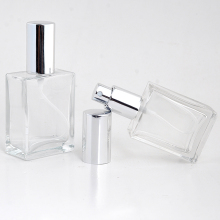 Hot Sale 30ml 3 Pieces/Lot  Fashion Portable Transparent Glass Perfume Bottle With Aluminum Atomizer Empty Cosmetic Container