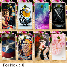 Smartphone Cases For Nokia X 1045 A110 RM-980 Normandy Single SIM 4.0 inch Cases Flowers Hard Back Skin Housing Sheath Hood Bags