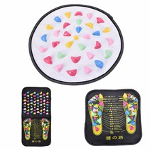 Best Selling New Arrival Chinese Reflexology Plastic Walk Stone Square Healthy Foot Massage Mat Pad Cushion High Quality(China)
