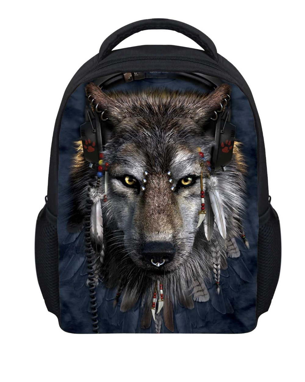 Cool Wolf Printing Childrens School Bags for Boys,3D Animal Schoolbag Students Mini Kids Orthopedic Bookbags Children Mochila<br><br>Aliexpress