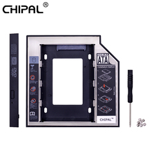 CHIPAL 2nd HDD Caddy 12.7mm Aluminium Optibay SATA 3.0 Harde Schijf Box Behuizing DVD Adapter 2.5 SSD 2 tb Voor Laptop CD-ROM(China)