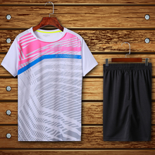 Badminton suit, tennis sport suit, table tennis men's T-shirt and badminton suit women outdoor sports sweater, quick drying(China)