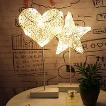 LED Night Light Christmas Light Flash String Lighthouse Dormitory Star LightLove Light Modeling Network Red Girl Room Small Lamp