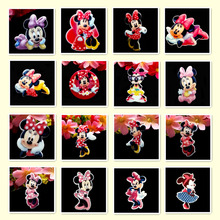 80pcs/Lot Mixed Minnie Mouse Face Planar Resin Cabochons Flat Back Scrapbooking Hair Bow Center Frame Card Making Craft Embelli(China)