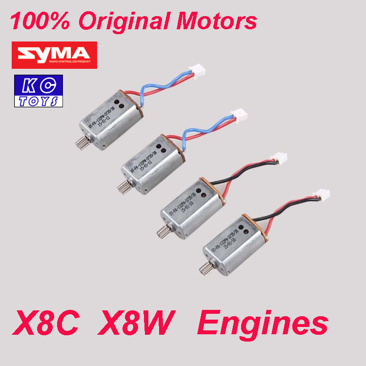 100% Original Syma X8C motor X8W engine X8C / X8W Syma spare parts X8C-10-11 4PCS/lot or 2 pcs/lot<br><br>Aliexpress