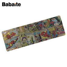 Babaite Custom Large Mouse pad mat gaming Photo image print comics wallpaper keyboard mouse pads Table Mat For PC Laptop Mouse