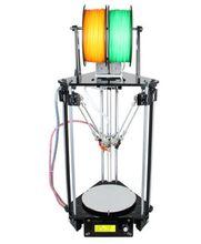 2016 Модернизированный Двойной Головы Все Металл Delta Коссель Росток Pro 3D Принтер Высокого Разрешения Impressora ЖК-Бесплатно