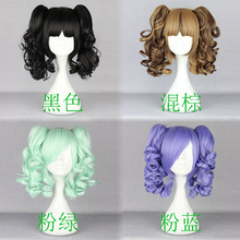 MCOSER Beautiful 4 color New Lolita curly medium clip on ponytails cosplay party hair wig