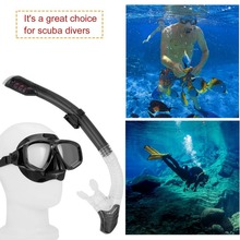 Professional Diving Masks Goggle Full Dry Silicone Snorkel Tube Set Men Women Diving Swimming Water Sports Equipment Free Ship(China)