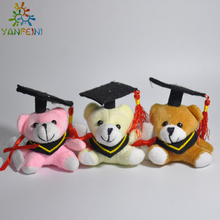 Hot plush doctor bear 2pcs 6cm Dr. Bear learn to read Bear plush toy doll graduation gifts(China)