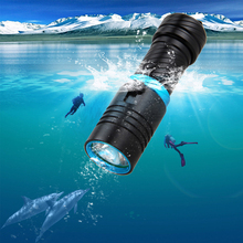 high quality scuba diving led flashlight underwater torch cree xm l2 flash light 18650 26650 rechargeable battery