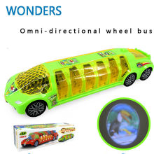 latest hot toys universal electric music bus electric model toys light music kid gift(China)